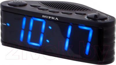 Радиочасы Supra SA-30FM (черно-синий) - общий вид