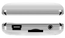 MP3-плеер Ritmix RF-7650 (8Gb, белый) - верхняя и нижняя панели