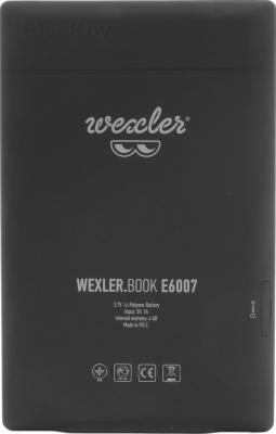 Электронная книга Wexler Book E6007 (Black) - вид сзади