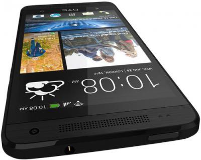Смартфон HTC One mini (черный) - верхняя и передняя панели