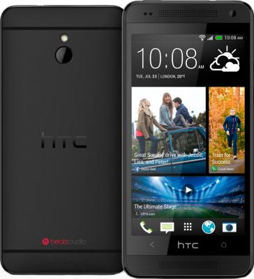 Смартфон HTC One mini (черный) - задняя и передняя панели