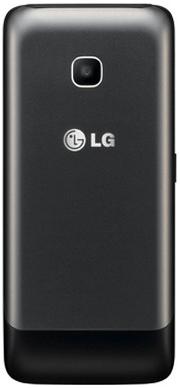 Мобильный телефон LG A399 Dual (черный) - задняя панель