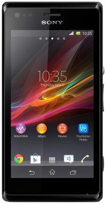Смартфон Sony Xperia M Dual (C2005) (Black) - общий вид