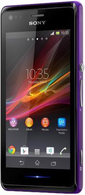Смартфон Sony Xperia M Dual C2005 (фиолетовый) - общий вид