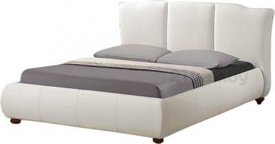 Двуспальная кровать Королевство сна LONTARO (180x200 жемчужная) - цвет на фото может несколько отличаться от оригинала