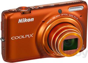 Компактный фотоаппарат Nikon Coolpix S6500 (Orange) - общий вид