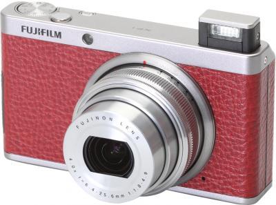 Компактный фотоаппарат Fujifilm FinePix XF1 (Red) - общий вид со вспышкой