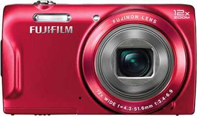 Компактный фотоаппарат Fujifilm FinePix T550 (Red) - вид спереди