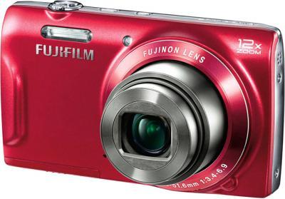 Компактный фотоаппарат Fujifilm FinePix T550 (Red) - общий вид
