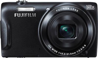 Компактный фотоаппарат Fujifilm FinePix T500 (Black) - вид спереди