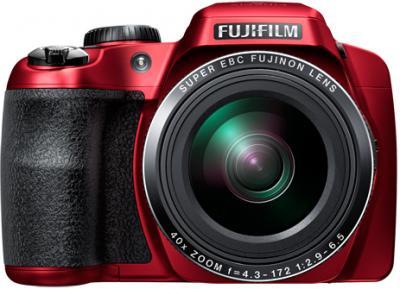 Компактный фотоаппарат Fujifilm FinePix S8200 (Red) - вид спереди
