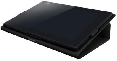 Чехол для планшета Sony SGP-CV5 (черный) - в сложенном виде