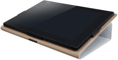 Чехол для планшета Sony SGP-CV5 (белый) - в сложенном виде