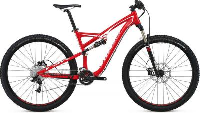 Велосипед Specialized Camber FSR Comp 29 (XL, Red-White, 2014) - общий вид