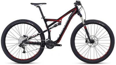 Велосипед Specialized Camber FSR Evo 29 (M, Black-Red-White, 2014) - общий вид