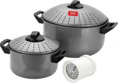 Набор кухонной посуды Calve CL-1125 (Gray) - общий вид