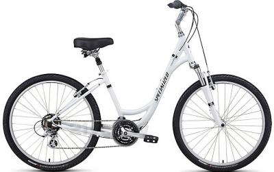 Велосипед Specialized Expedition Sport Low Entry (L, White-Black, 2014) - обший вид