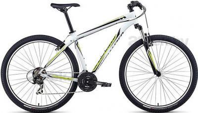 Велосипед Specialized HardRock 29 (S, White-Lime-Black, 2014) - общий вид