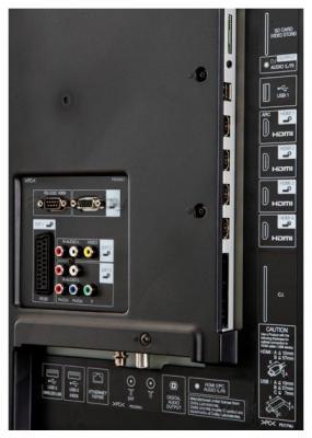 Телевизор Sharp LC70LE747RU - задняя панель
