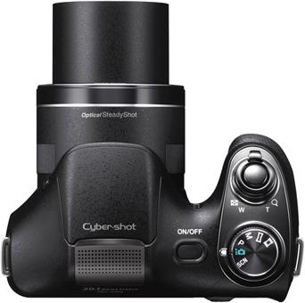 Компактный фотоаппарат Sony Cyber-shot DSC-H300 - вид сверху