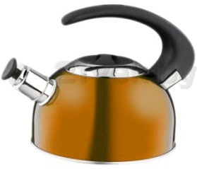 Чайник со свистком Calve CL-1459 - в оранжевом цвете