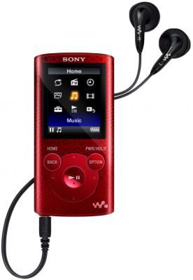 MP3-плеер Sony NWZ-E383R - общий вид с наушниками