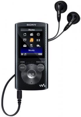 MP3-плеер Sony NWZ-E384B - общий вид с наушниками