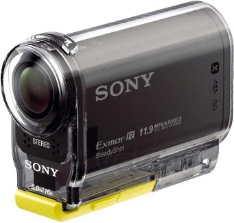 Экшн-камера Sony HDR-AS30VE - общий вид в защитном корпусе