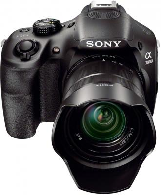 Беззеркальный фотоаппарат Sony ILC-E3000KB - общий вид