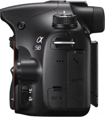 Зеркальный фотоаппарат Sony SLT-A58Y - вид сбоку