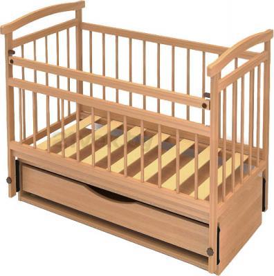 Детская кроватка Бэби Бум Аленка-4 (бук) - общий вид