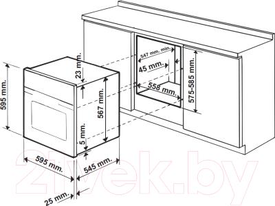 Электрический духовой шкаф Hotpoint FHR 640 (OW)/HA S
