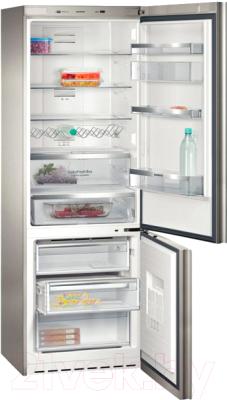 Холодильник с морозильником Siemens KG49NSB21R - внутренний вид