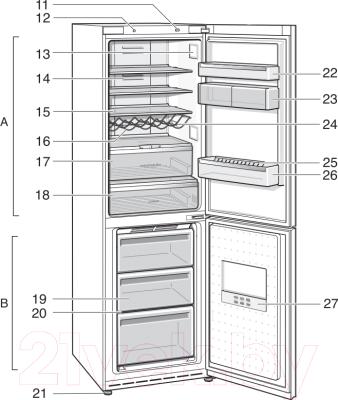 Холодильник с морозильником Siemens KG49NSW21R