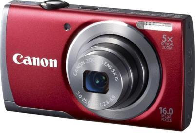 Компактный фотоаппарат Canon PowerShot A3500 (красный) - общий вид