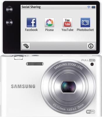 Компактный фотоаппарат Samsung MV900F (White, EC-MV900FBPWRU) - поворотный экран