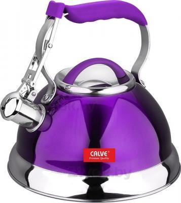 Чайник со свистком Calve CL-1461 - в фиолетовом цвете