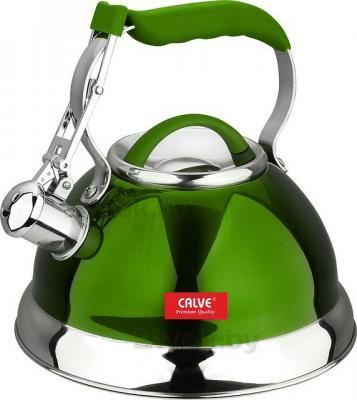 Чайник со свистком Calve CL-1461 - в зеленом цвете