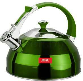 Чайник со свистком Calve CL-1462 - в зеленом цвете