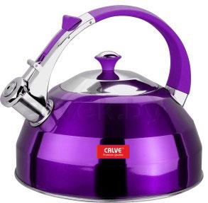 Чайник со свистком Calve CL-1462 - в фиолетовом цвете