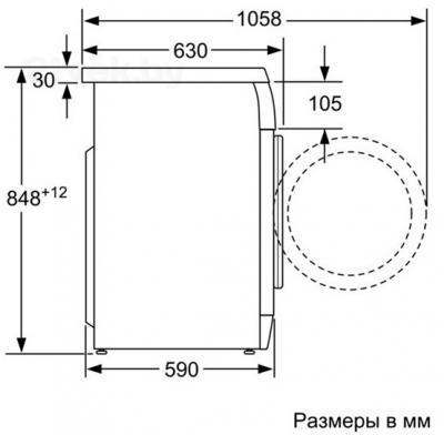Стиральная машина Bosch WAS2844WOE - схема