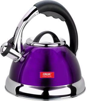 Чайник со свистком Calve CL-1463 - в фиолетовом цвете