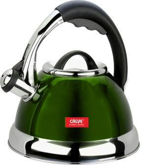 Чайник со свистком Calve CL-1463 - вв зеленом цвете