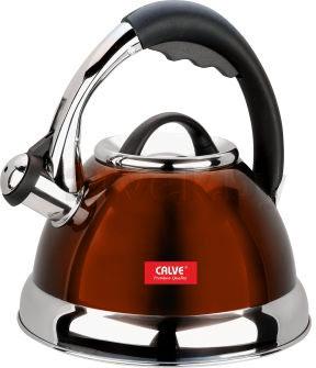 Чайник со свистком Calve CL-1463 - в оранжевом цвете
