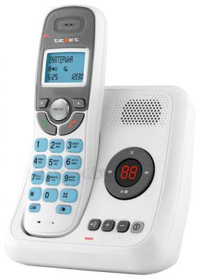 Беспроводной телефон TeXet TX-D6955A (белый) - общий вид