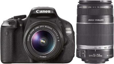 Зеркальный фотоаппарат Canon EOS 600D Double Kit 18-55mm IS II + 55-250mm IS - общий вид