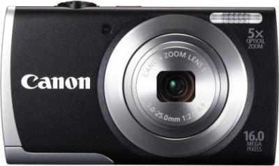 Компактный фотоаппарат Canon PowerShot A3500 (черный) - вид спереди
