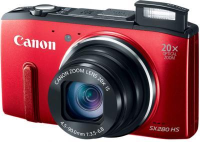 Компактный фотоаппарат Canon PowerShot SX280 HS (Red) - общий вид