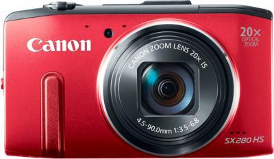 Компактный фотоаппарат Canon PowerShot SX280 HS (Red) - вид спереди