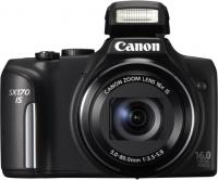 Фотоаппарат Canon PowerShot SX170 IS (Black) - вид спереди